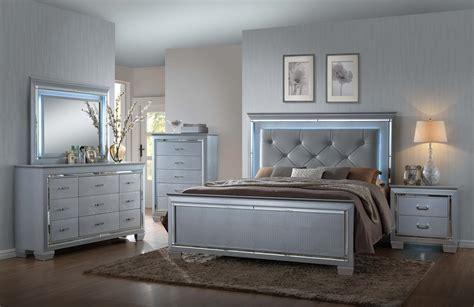 bedroom set with led lights lillian led bedroom set by crown