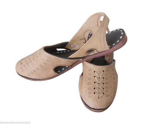 Handmade Flip Flops - us 7 ethnic indian handmade sandals leather jutti