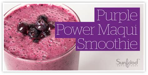 Recipe For Purple Power Detox Smoothie by Power Shake Recipes