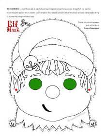 christmas elf mask printable coloring page more fun