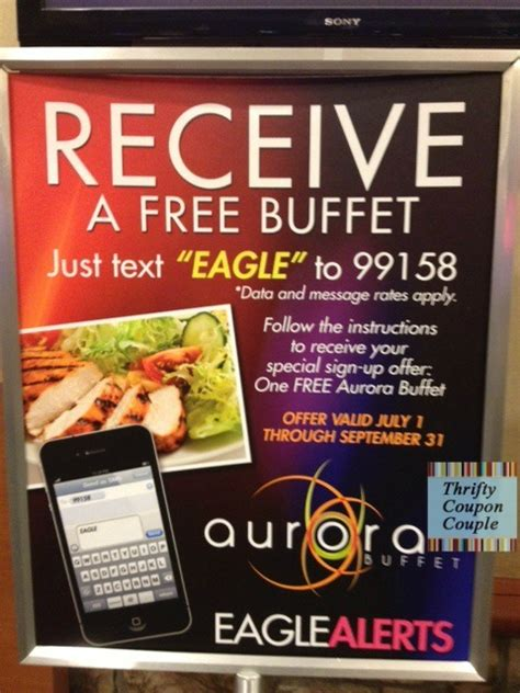 casino buffet coupons free buffet at soaring eagle casino resort text offer thrifty coupon