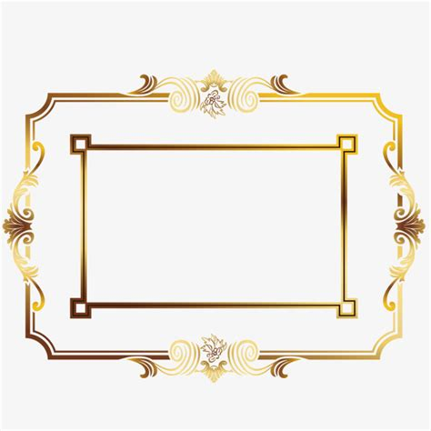 gold wedding border png gold border png gold frame picture design vector