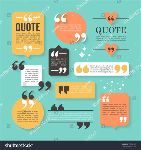html quote design modern block quote pull quote design stock vector