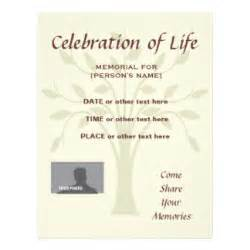 celebration of templates funeral flyers programs zazzle
