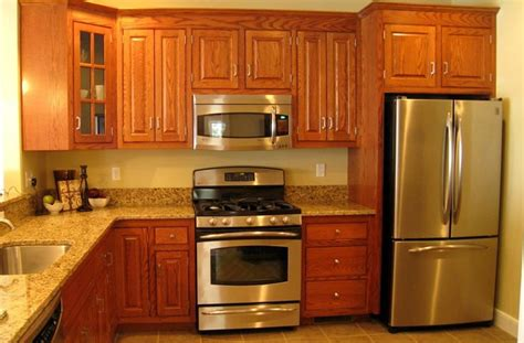 kitchen paint colors with oak cabinets and stainless steel appliances homeclan xyz
