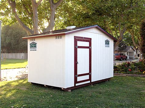 California Sheds Salinas by California Custom Sheds 8x14 Peak Roof Package
