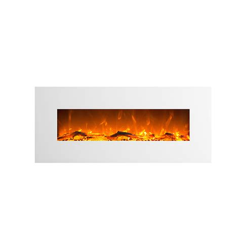 1500w 50 quot white frame wall mounted electric fireplace