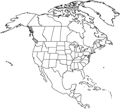 north america map / map of north america facts