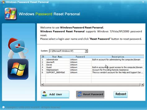 asunsoft windows password reset personal latest free dell downloads