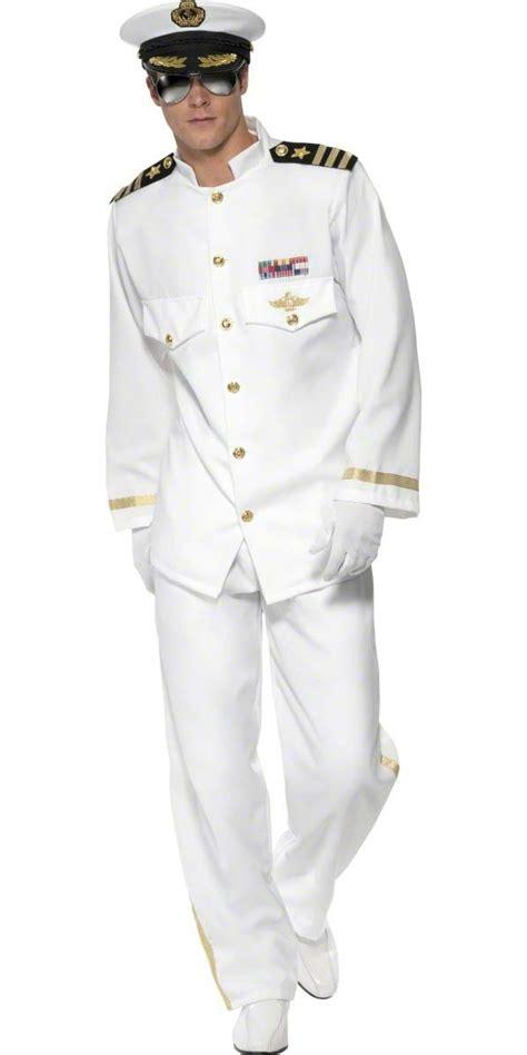 captain costume deluxe mens navy captain costume 33690 fancy