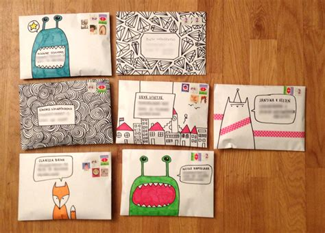 envelope decoration ideas found on snailmail magazine