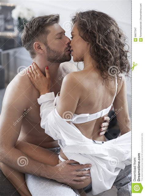 people making out in bed intimate couple making love in bed stock image image