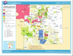 oregon indian reservations map map of new mexico map federal lands and indian