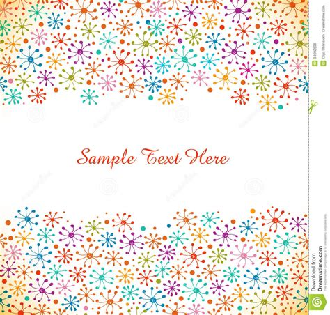 Decorative Drawn Banner Doodle Hand Drawn Abstract Border
