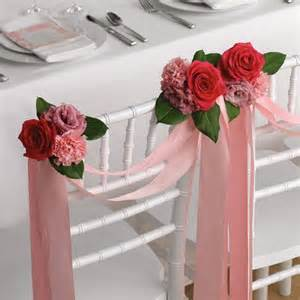 premium flowers wedding chair decorations