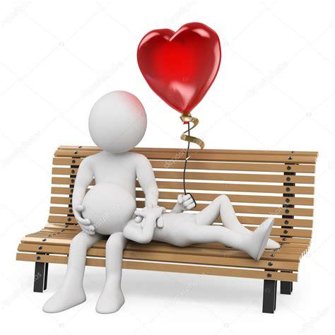 3d frau erstellen 3d wei 223 en menschen paar in liebe auf einer parkbank