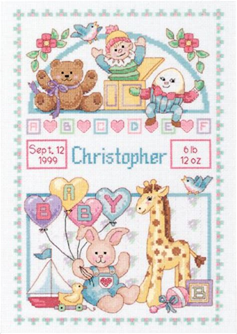 Dimensions Needlecrafts Counted Cross Stitch Baby Express Birth Record Dimensions Needlecrafts 13650 Dimensions Needlecrafts Counted Cross Stitch Birth