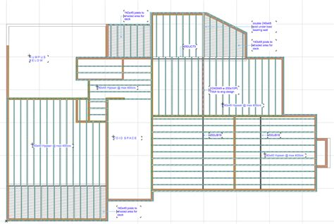 wood floor framing plan cadimage document mid floor framing plan house