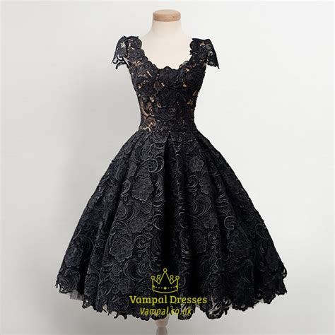 black homecoming dresses with sleeves little black lace overlay cap sleeves dropped waist