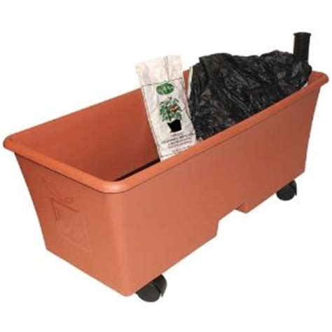 Earth Box Planter by Choosing Outdoor Planters Self Watering Raised Bed