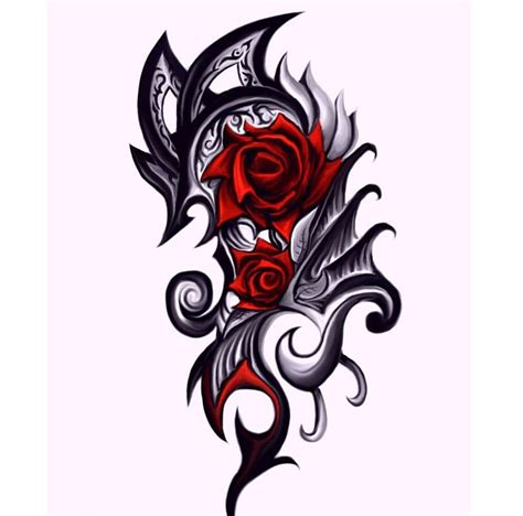 rose and dragon tattoos tag tribal arm half sleeve designs best