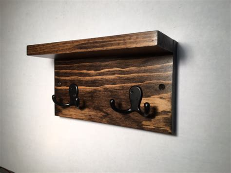Small Shelf With Hooks by Small Hook Rack With Shelf 2 Hooks Entryway By