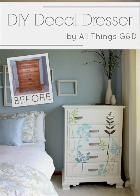 Dresser Decals by Diy Decal Dresser All Things G D