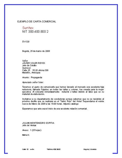 como se redacta una carta de referencia comercial la carta comercial y sus partes
