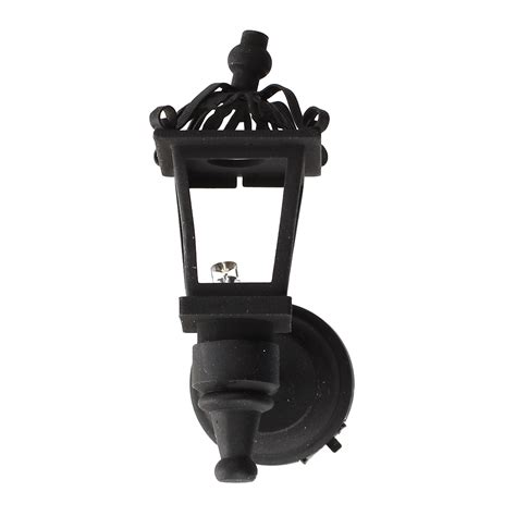 Dollhouse Light Fixtures Black Metal 1 12 Dollhouse Miniature Led Wall Light Model K5e8 Ebay