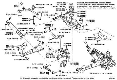Toyota Rav4 Rear Suspension Diagram toyota rav4 rear suspension diagram toyota auto parts