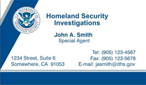 dhs business card template best business cards
