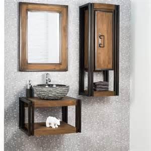 miroir de salle de bain 233 l 233 gance bois m 233 tal 60x80