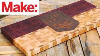 crafted workshop  grain cutting board  cnc inlay