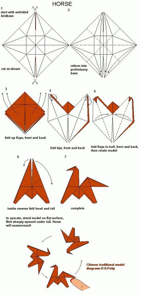 Origami Horses - 82 origami diagrams