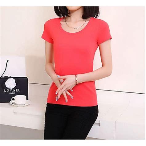 Kaos Wanita kaos polos katun wanita o neck size s 86101 t shirt