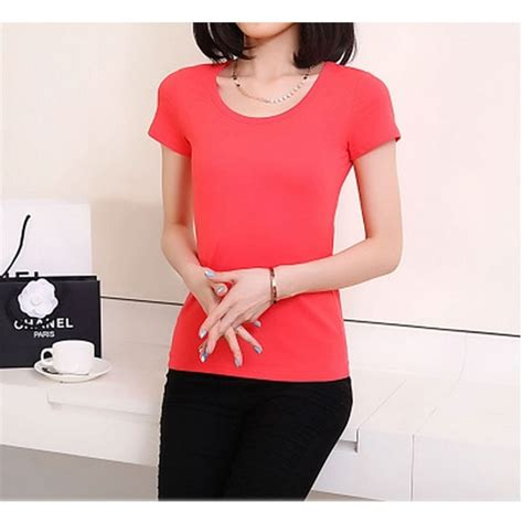 Promo Kaos Polos Katun Wanita O Neck 86101 T Shirt Termurah 1 kaos polos katun wanita o neck size s 86101 t shirt