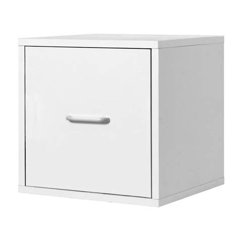 2 drawer organizer cube foremost 15 in white 2 drawer cube 327401 the home