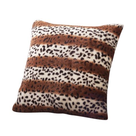 leopard couch covers new leopard pattern faux fur decorative sofa throw pillow