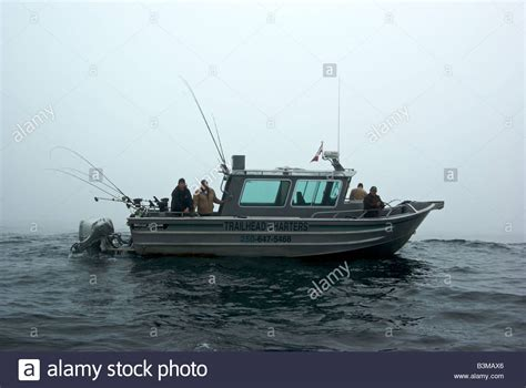 sport fishing boat in rough seas aluminum charter fishing boat halibut drift fishing in