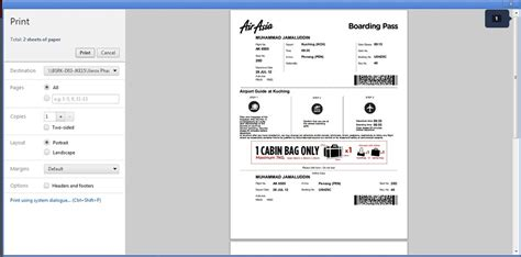 airasia hot boarding pass how to self check in airasia boarding pass pi sana pi sini