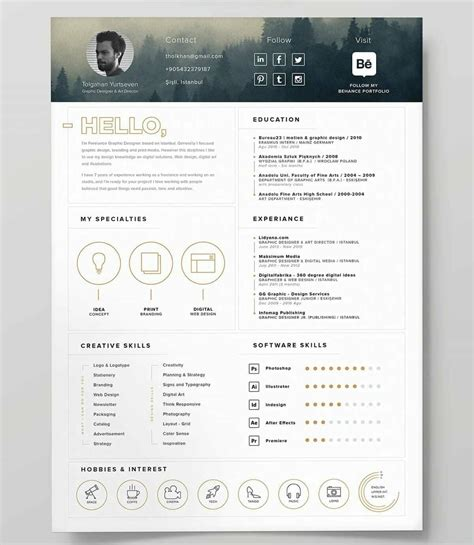 resumes cvs website templates portfolio cv wix page 2