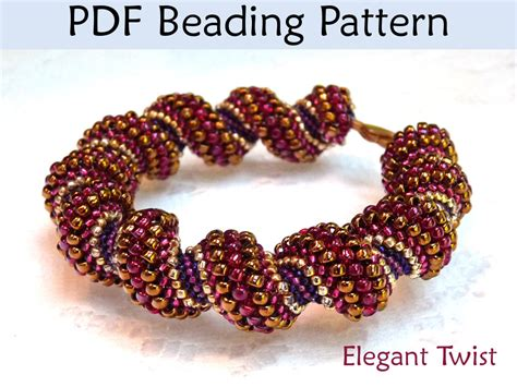peyote beading tutorial pdf jewelry pattern cellini spiral peyote beading