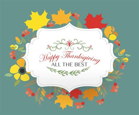 Happy Thanksgiving Card Printout Template by Thanksgiving Templates For Professional And Personal Use