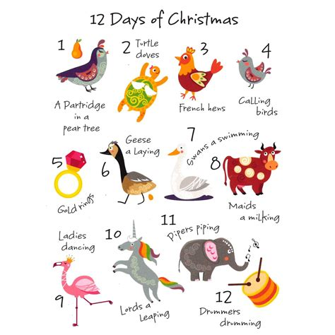 modern twelve days of christmas contemporary 12 days of cards cards charity cards foundation