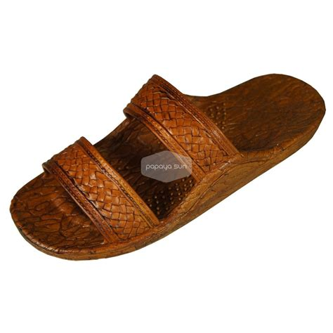 jesus slippers classic light brown hawaiian jandals pali hawaii jesus