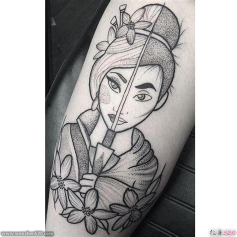 花木兰形象图案纹身