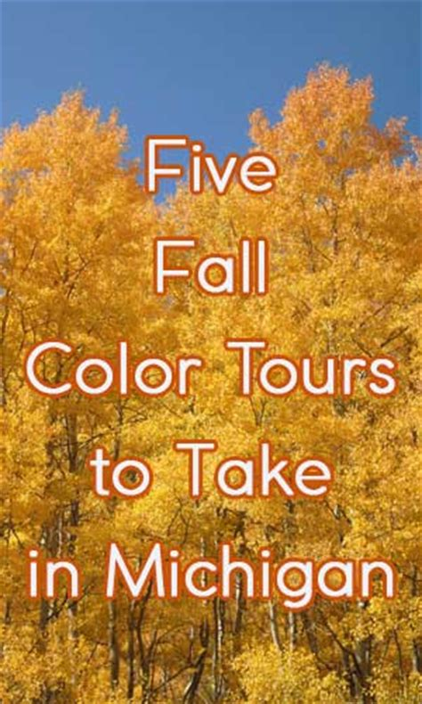 city and color tour five fall color tours to take in michigan
