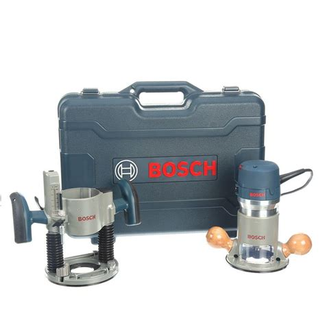 Router Bosch bosch 12 2 1 4 hp peak corded variable speed plunge and fixed base router kit with