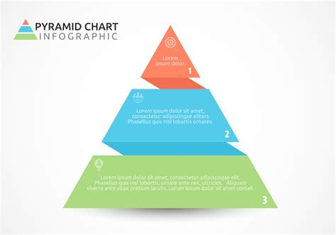 Free Flat Pyramid Chart Vector Design Download Free Vector Art Stock Graphics Images Pyramid Chart Excel Template