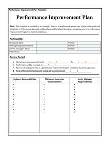 performance improvement plan template best business template